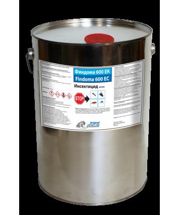 ФИНДОМА 600 ЕК 25л.Препарат против мухи, комари, хлебарки, мравки, бълхи, стоножки, бръмбари