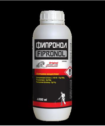 ФИПРОНОЛ 1л Препарат против мухи, комари, хлебарки, мравки, кърлежи, бълхи листни въшки