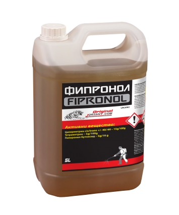 ФИПРОНОЛ 5л Препарат против мухи, комари, хлебарки, мравки, кърлежи, бълхи листни въшки
